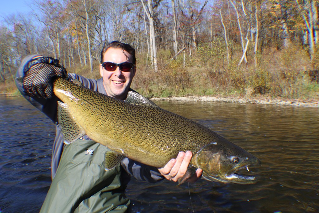 muskegon river fishing report newaygo mi october 30