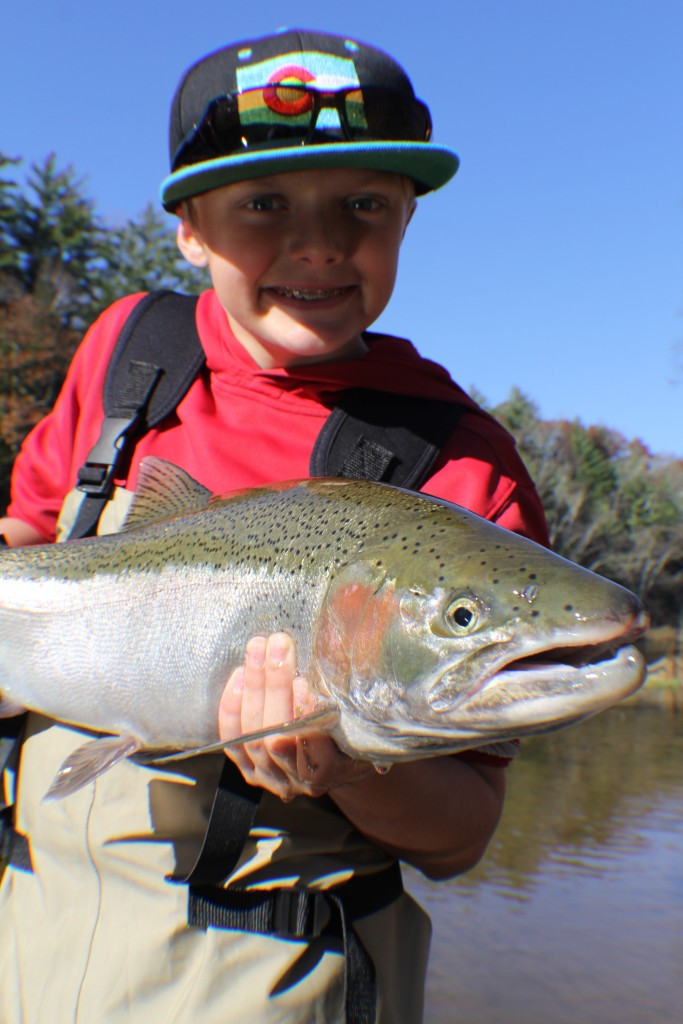 Jack with a steelhead