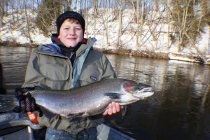 Muskegon river trout and steelhead fishing