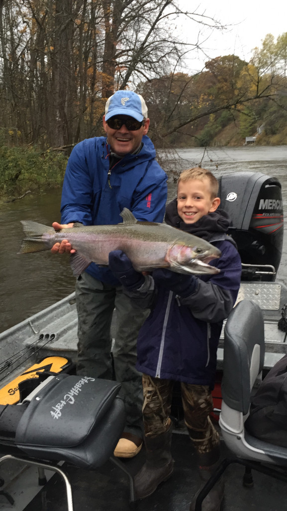 Muskegon river fall and winter steelhead fishing