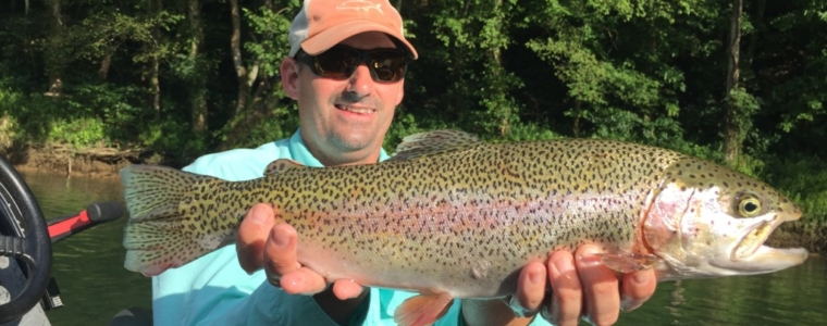 John with a great Rainbow trout