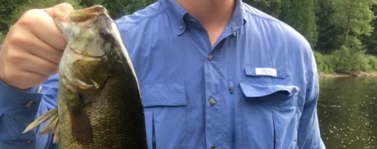 Jake with a Smallmouth Bass from today.